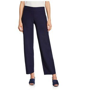 Eileen Fisher Straight Yoke Pull On Pants Midnight